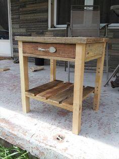 DIY Pallet Nightstand......Built to Inspire | 101 Pallets