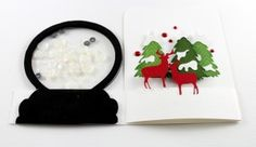 Shaker card tutorial: How to make a snow globe shaker card.