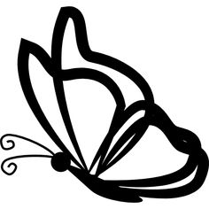 butterfly side detailed wings template outline bujo icon icons transparent silhouette flaticon freepik designed