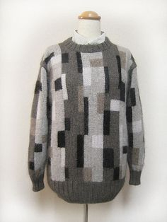 Autumn Present Men's Knit Pullover by Kazekobo (風工房)