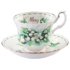 Royal Albert Flower of the Month May Teacup & Saucer