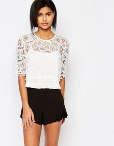 French Connection Freddy Top in Lace
