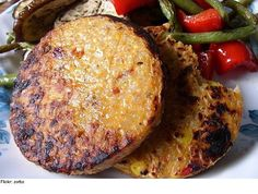 Dr Fuhrman Walnut Lentil Veggie Burgers (I used red beans and they came out great!)