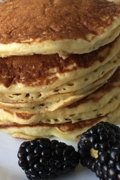 Tall fluffy pancakes make the best breakfast especially when there's plenty of butter and syrup. Make it extra special. Old Fashioned Pancake Recipe, Brunch Recipes, Breakfast Recipes, Fluffy Pancakes, Vegetarian Chocolate, Best Breakfast, Breakfast Casserole, Casserole Recipes, Chocolate Chip Cookies