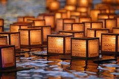 """Lantern Floating Hawaii is Honolulu's version of Toro Nagashi, a Japanese tradition which translates literally as """"lantern offerings on water."""