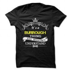 cool BURROUGH T-shirt Hoodie - Team BURROUGH Lifetime Member