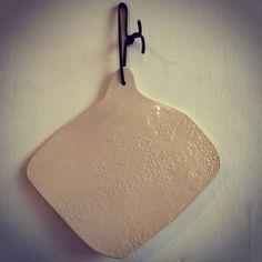 White Cheese board  #ceramic #glaze #handmade