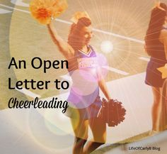 Youth cheerleading allstars! Parents we are talking about you! You need to take a look at ' An Open Letter To Cheerleading' (and to parents who are struggling with letting their kid try a new hobby)! It will change your life and view of cheer! Cheerleading Moves, Cheer Tryouts, Cheerleading Cheers, Cheer Coaches, Cheerleading Outfits, Cheer Dance Routines, Cheers And Chants, University Of Northern Iowa, Cheer Camp