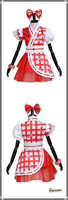 Momoiro Clover Z Girl's Red Lolita Dress Cosplay Adult's Custom Made Carnival Party Cosplay Dress