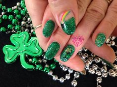 St Patty's Pot of Gold  Nails by Katie Hart  Eugene, Or  541-730-2662 www.styleseat.com/KatieHart www.facebook.com/nailsbyKatieHart
