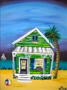 Green Beach House - Sarasota, FL Painting Class - Painting with a Twist