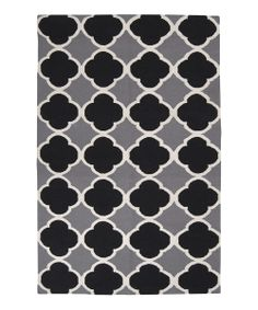 Jet Black Frontier Wool Rug | Daily deals for moms, babies and kids