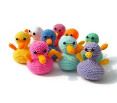 Amigurumi duck crochet toy plush yellow rubber duckie by jarg0n, £10.00