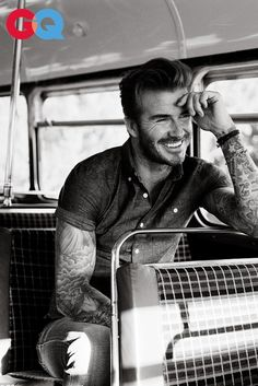 David Beckham wearing Todd Snyder Short Sleeve Chambray Shirt, Diesel Skinny Jeans
