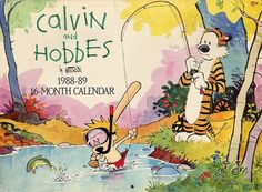 Calvin and Hobbes 1988-89 16 month calendar cover (I had this one!)