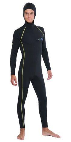 EcoStinger Men's Stinger Suit Dive Skin + Hood & Gold Stitch Sun Protection Swimwear XXL Black/Gold Stitch EcoStinger http://www.amazon.com/dp/B00HERWNGQ/ref=cm_sw_r_pi_dp_HDb7tb1SEKNVF
