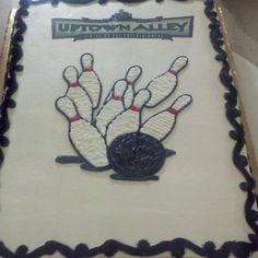 Bowling Sheet Cake