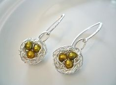 cute bird nest jewelry from A Cup of Sparkle