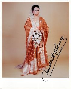 Caballe, Montserrat - Signed photo as Tosca