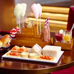 Tea at the One Aldwych Hotel, London - a quirky afternoon tea inspired by Roald Dahl's Charlie and the Chocolate Factory. More
