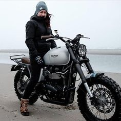 New Triumph from @outsidersmotorcycles featuring @bons88. Shot by @markmeisner. Coming soon on @bikeshedmc. #triumph #triumphscrambler #scrambler #beachlife #tracker #brattracker #custombike