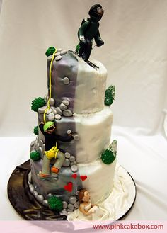 Rock Climbing Mountain and Skiing on Cake