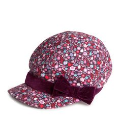 Patterned Cap in Dark Purple...$6.95  9-12M @ H US