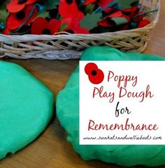Sun Hats & Wellie Boots: Remembrance Day Activity - Planting Poppies with Play Dough Remembrance Day Activities, Remembrance Day Poppy, Sunday Activities, Nursery Activities, Playdough Activities, Kindergarten Crafts, Daycare Crafts, Toddler Crafts, Preschool Crafts