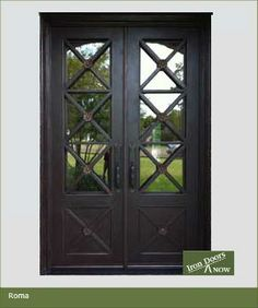 Double Front Doors in Stock | Iron Doors Now | House Entrance Iron Doors