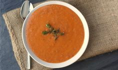 Most amazing tomato soup I've ever had/made. I'm not a fan of spice is made without red pepper flakes. Fantastic!!!