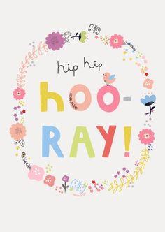 Aless Baylis 'Kaart Hooray'