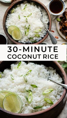 You don't need to go to a restaurant to enjoy coconut rice. Make it at home in less than 30 minutes. #glutenfree #dairyfree #coconut #rice Rice Recipes, Baby Food Recipes, Asian Recipes, Vegetarian Recipes, Food Baby, Healthy Recipes, Healthy Meal Prep, Healthy Eating, Yummy Veggie