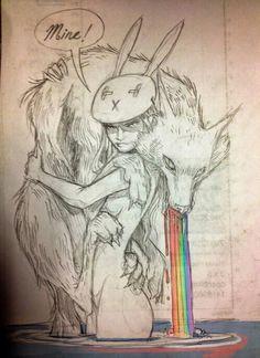 Image via We Heart It #art #ChiaraBautista #drawing #fantasy #illustration #love #wolf