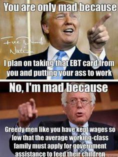 I agree with Bernie