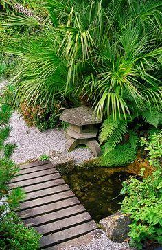 amorran House Gardens, Cornwall, UK   A coastal garden with some interesting Japanese garden features