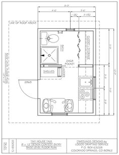 """Charles Strongis sharing his 8×12tiny house designaspart of our 2015 8×12 tiny house design contest. """"I have been in the construction trade for longer than I care to think about, fir…"""