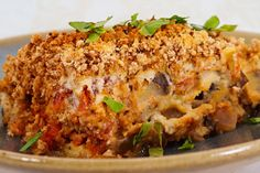 vegan eggplant 'parmesan'