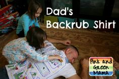 """This """"Backrub Shirt"""" is a funny gift for dad this Father's Day #Father'sDay"""