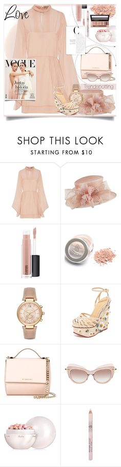 """Spring hats"" by junethesev7n ❤ liked on Polyvore featuring Emilio Pucci, Failsworth Hats, MAC Cosmetics, Michael Kors, Charlotte Olympia, Givenchy, Pomellato, Guerlain and L.A. Girl"