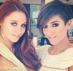 All glammed up and ready to go: Una posted an Instagram photo of her and Frankie before leaving their hotel