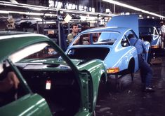 "cashcarscourage: "" daily porsche portion: Porsche factory, Zuffenhausen, 1970 """
