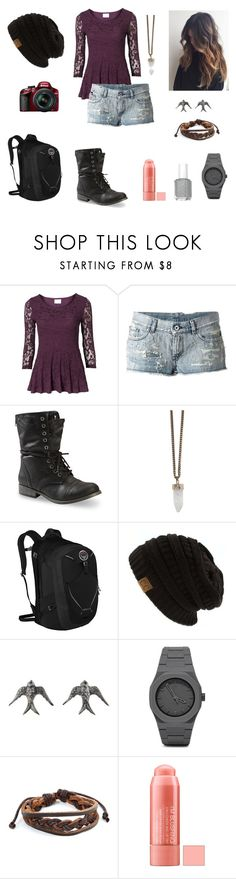 """""""Untitled #38"""" by kctigergirl ❤ liked on Polyvore featuring Diesel, Nikon, Givenchy, Osprey, Blackbird and the Snow, CC and West Coast Jewelry"""