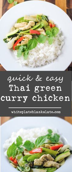 Quick and easy Thai green curry chicken