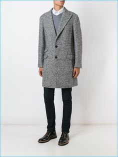 Brunello Cucinelli Herringbone Coat