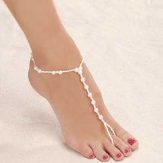 Delightful beaded foot jewelry adds style and glamour to your feet. Ideal for a beach wedding, your honeymoon, and anytime you want to go…