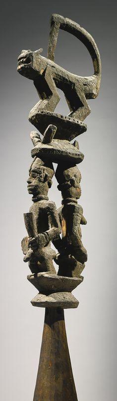 Urhobo or Isoko figural headcrest, Nigeria | Lot | Sotheby's