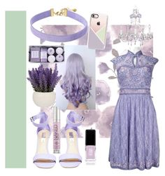 """""""Lavender👌"""" by lara-fashion22 ❤ liked on Polyvore featuring Graham & Brown, Vanessa Mooney, Steve Madden, Casetify, JINsoon, Urban Decay, Sue Wong, cute, outfit and fashionset"""