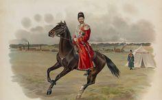 Nicolás II a caballo