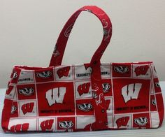 Wisconsin Badgers Over the Top Purse #Handmade #Totes