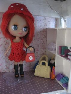 LPS Blythe with red dress and hat